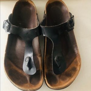 Birkenstock Gizeh Very used Black patent EUR 40